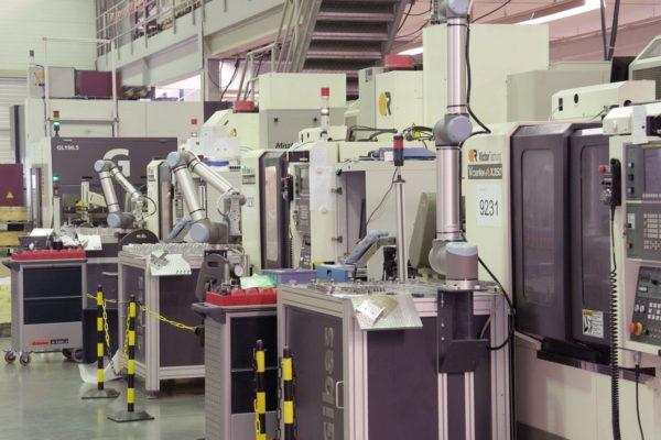 Overzichtsfoto van CNC-machines