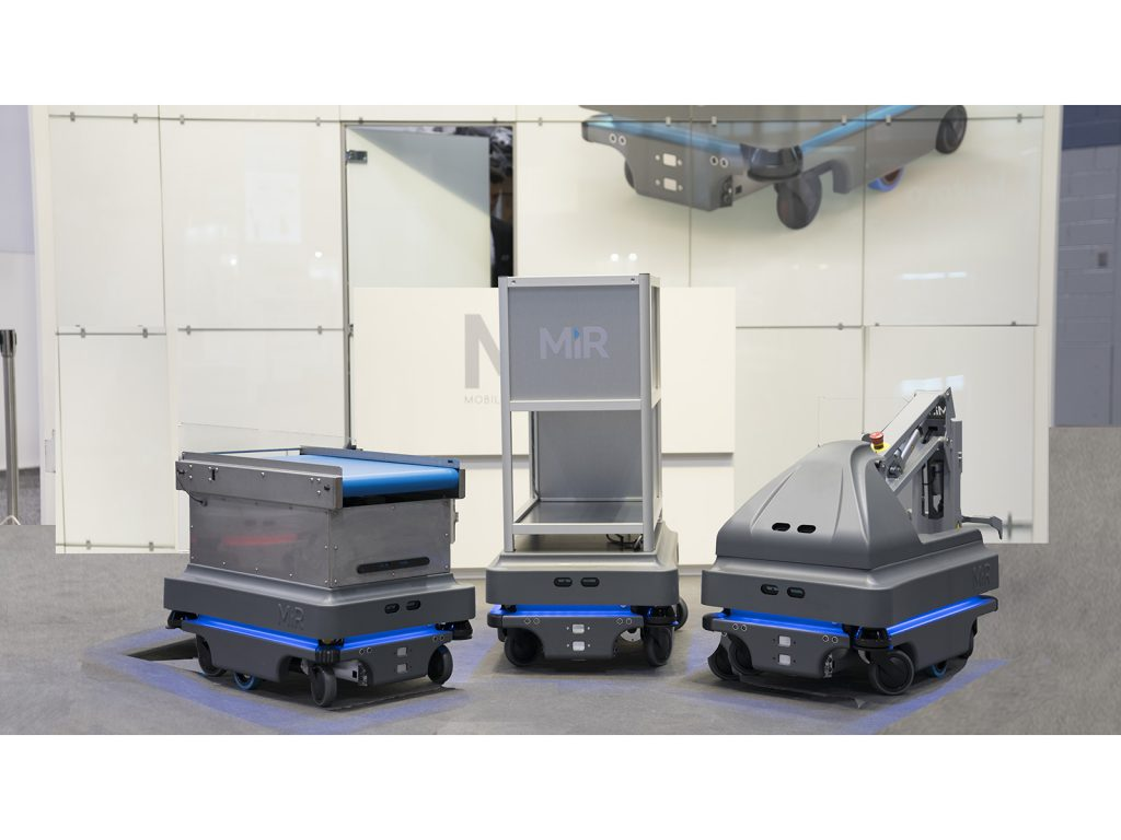 Our partners three types of MiR Robots