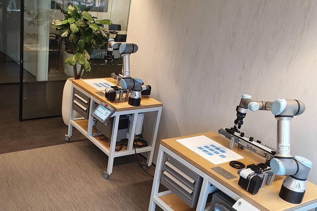 Trainingsruimte Universal Robots academy
