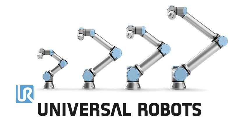 Vier verschillende Cobots van Universal Robots
