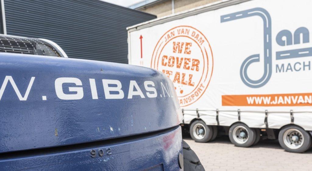 Gibas logistiek in samenwerking met Jan van Dam transport