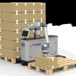 EasyRobotics EasyPalletizer met een cobot van Universal Robots om automatisch pallets te vullen