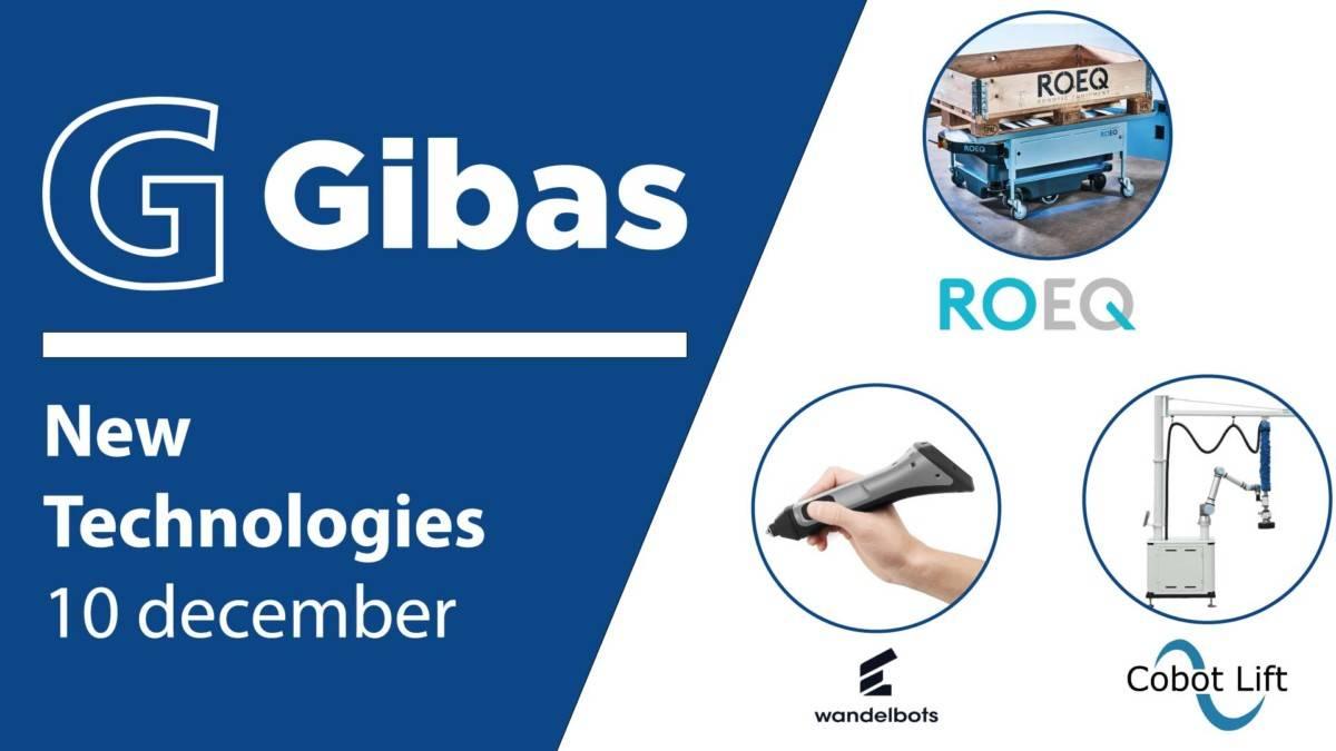 New Technologies 10 december met Wandelbots ROEQ en Cobot Lift