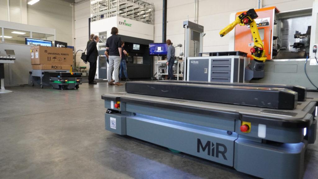 MiR, roeq en Wandelbots tijdens de New Technologies