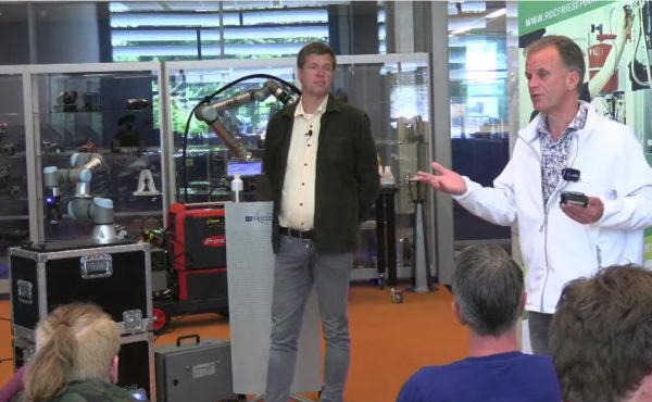 Lezing om productieprocessen te automatiseren d.m.v. cobots, amr's en de duurzaamheid ervan.